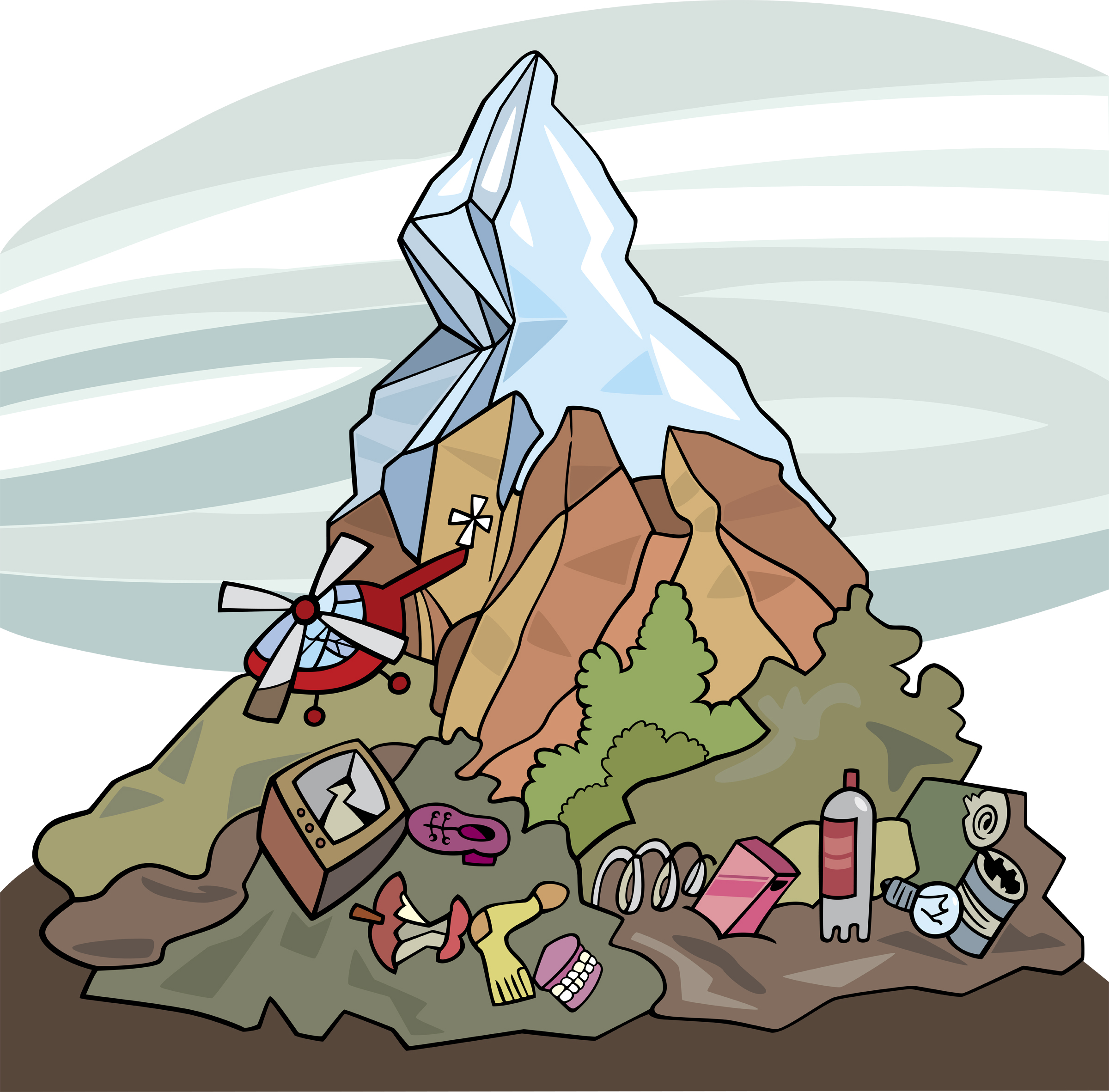 Mountain  of garbage