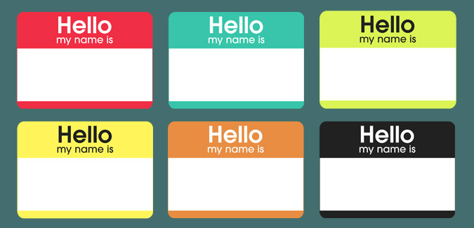 event name tag template - stereotype sundays go bold hello my name is filthy pig